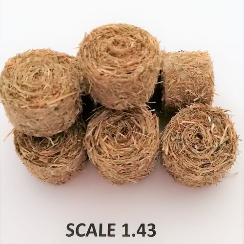 ROUND HAY BALES - Scale 1:43  - Pack of 8