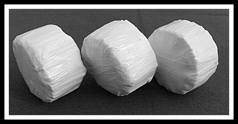 White Wrap Round Bales - Pack of 2