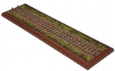 O Gauge Standard Plinth - Design infill, 'Mainline with wooden sleepers'